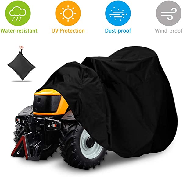 NASUM Outdoors Lawn Mower Cover Tractor Cover Fits Decks Up To 54 Riding Lawn Mower Cover Protection Universal Fit For Your Ride On Garden Tractor With Drawstring Storage Bag 72x54x46in