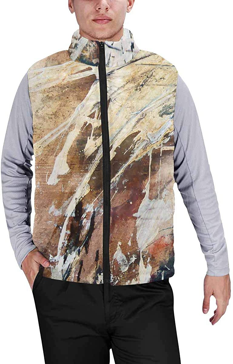 InterestPrint Men's Soft Stand Collar Jacket for Fishing Hiking Cycling Et of Green Frog and Water Lily