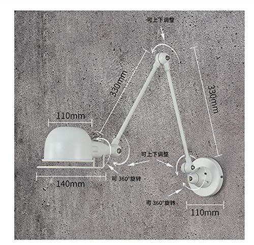 Vintage RH Loft jielde Verstelbare retro E14 LED Wandlampen Blaker wandlamp Armaturen voor thuisverlichting nachtkastje woonkamer wit L 1