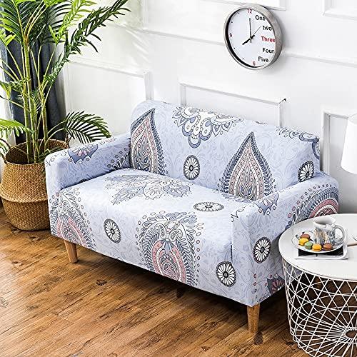 PPOS Fundas de sofá elásticas universales de Estilo Tropical Fundas de sofá de Sala de Estar Protector de decoración Bohemia para el hogar A2 3 Asientos 190-230cm-1pc