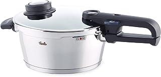 Fissler vitavit premium / Olla a presión (3,5 litros, Ø 22 cm) de acero inoxidable, 2 niveles de cocción, apta para cocinas de inducción, gas, vitrocerámica y eléctricas