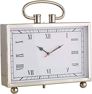 47th & Main Large Silent Analog Clock with Roman Numerals, 13 Inch