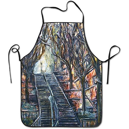 N\A Blick auf den Eiffelturm und Les Invalides Häuser Architektur Landschaft Schürze Küche Frau/Mann Schürze Komfortabel Perfekt für Kochführer