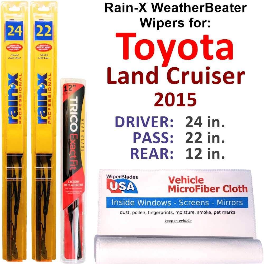 定価 Rain-X WeatherBeater Wipers for 2015 Toyota Land Set Cruiser w 現金特価 R