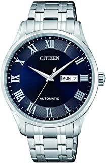 CITIZEN Mens Mechanical Watch, Analog Display and Stainless Steel Strap - NH8360-80L