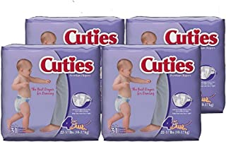 Cuties Baby Diapers, Size 4, 124 Count