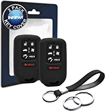INFIPAR 2pcs Compatible with Honda Clarity 6 Buttons Silicone FOB Key Case Cover Protector Keyless Remote Holder for 2019 2018 2017 Honda Clarity Electric Hydrogen Plug-in Hybrid Fuel Cell PHEV