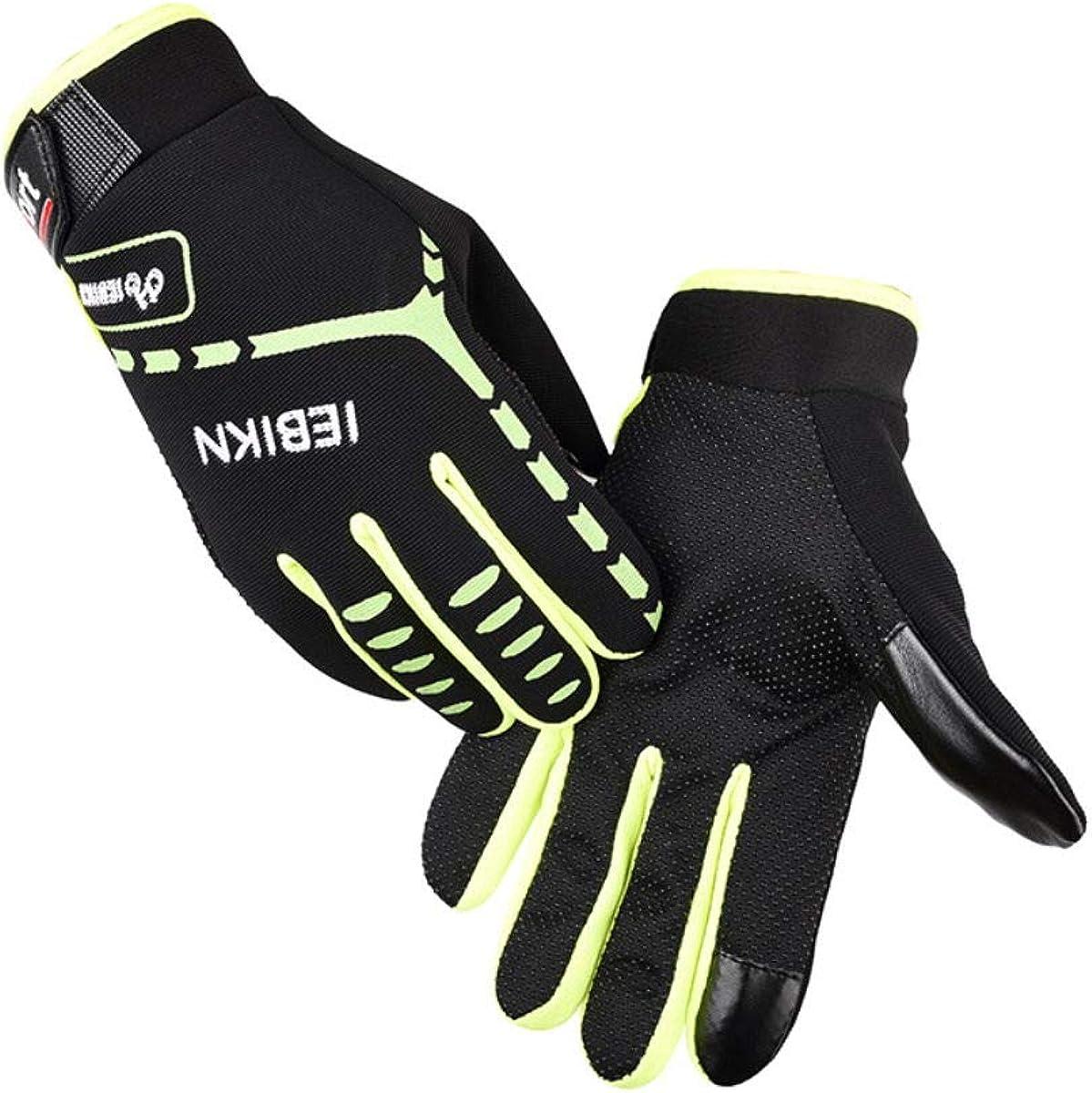 Motor Cycling Gloves Biking Gloves Mountain Bike MTB Bicycle Dirt Bike Gloves Full Finger Anti-Slip Shock-Absorbing Workout Gloves for Men Women