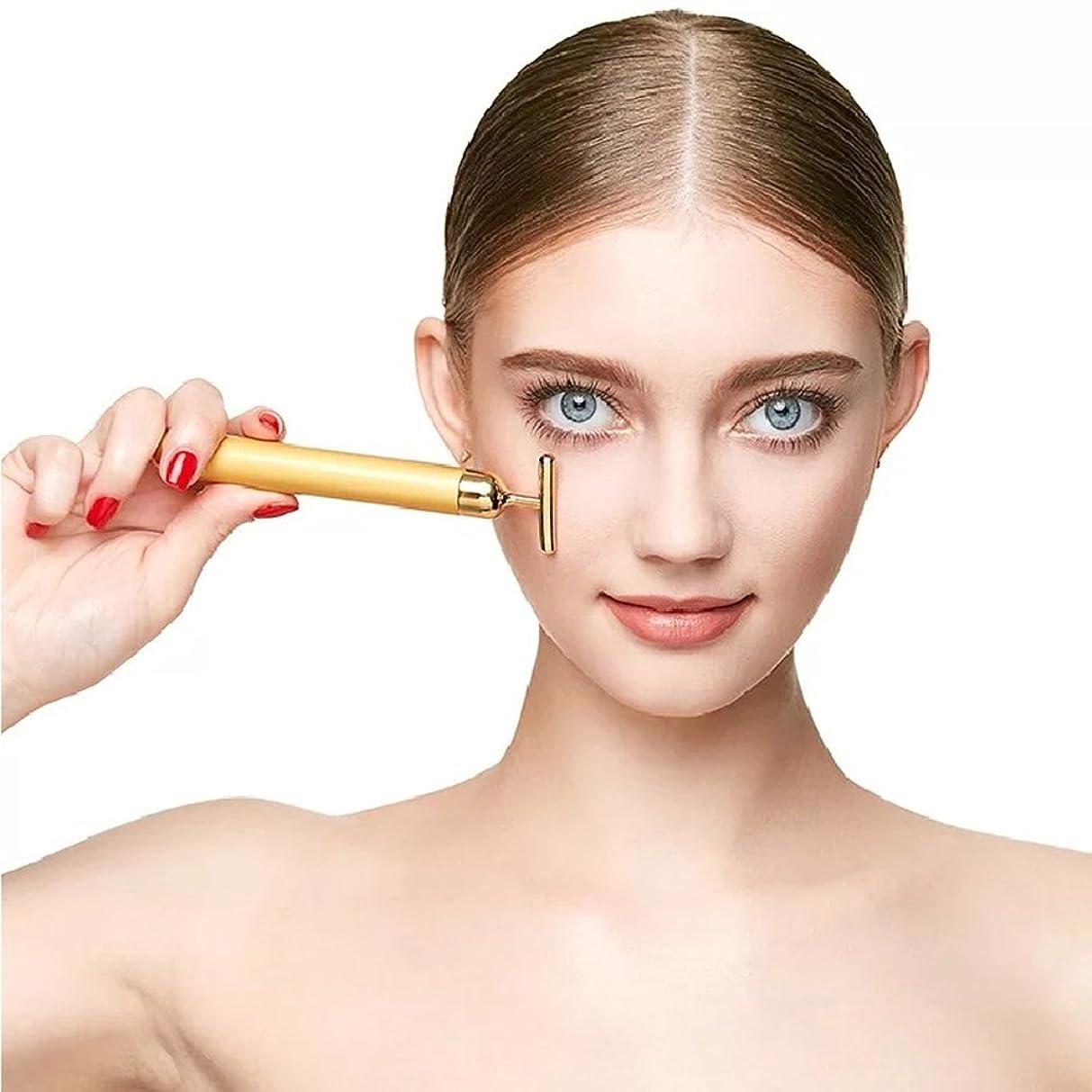 ラショナル愛性的YSBER 24K Beauty Bar T型美肌 しわの除去/超音波美顔器