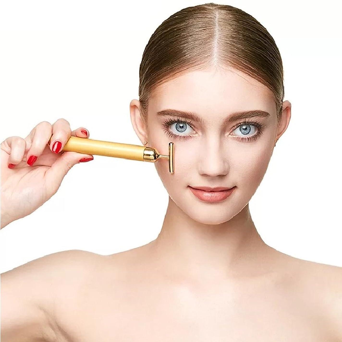 実質的ベル資格情報YSBER 24K Beauty Bar T型美肌 しわの除去/超音波美顔器