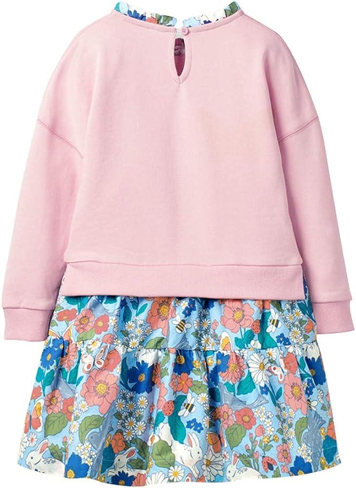 Mud Kingdom Boutique Little Girl Sweatshirt Dress Sequins Ruffle Flowers