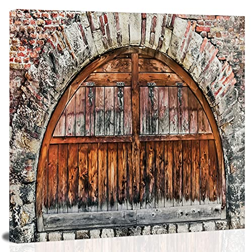 graph of a brick-stone rampart.,Prints on Canvas Home Decoration Stretched Gallery Canvas Wrap Giclee Print. Ready to Hang 8x8 inch