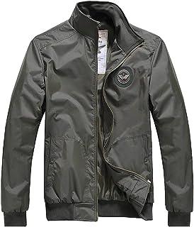 Elonglin Men's Bomber Jackets Military & Flight Style Stand Collar Jacket Casual Lightweight Softshell Outwear