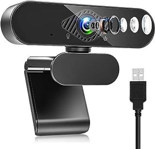 Teaisiy Webcam PC, Webcam con Micrófono Portátil 1080P HD/30pfs Streaming Cámara para Videollamadas, Estudiar en Línea, Co...