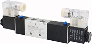 Baomain Pneumatic Solenoid Air Valve 4V230C-08 DC 24V 5 Way 3 Position PT1/4