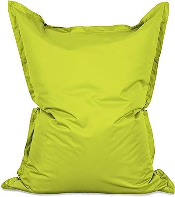 Lumaland Grand Pouf Chaise de Luxe XXL de Jeux, pour intérieur et extérieur, Le Salon ou Chambre Coussin avec Housse Lavable 380L 140 x 180 cm Vert Pomme