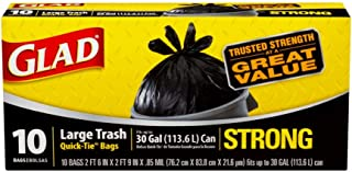 Glad Strong Large Quick-Tie Trash Bags, 10s