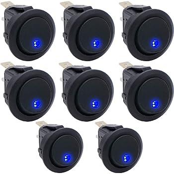Rocker Switch 612B 12 voltios luces de techo Carling Barra de luz láser grabado de conducción