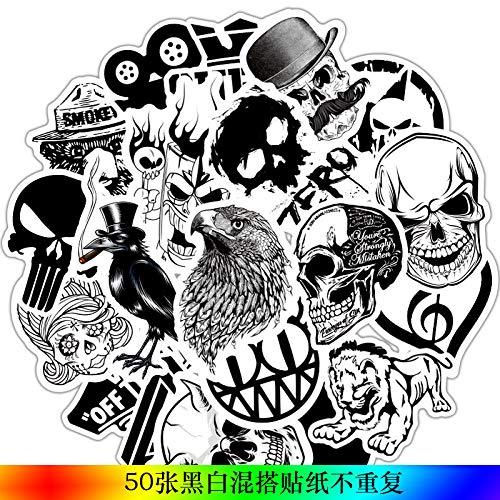 Graffiti, auto-vervanging, waterdicht, stickers voor motorfietsen, fietshelmen, motorfietsen, koffer, laptop @ 1_Bag_Random (50 stuks)