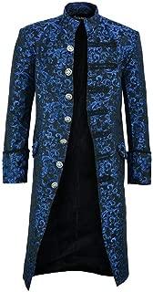 CUCUHAM men Button Fashion Steampunk Vintage Tailcoat Jacket Gothic Frock Uniform Coat