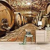 3d papier peint personnalisé cave à vin TV Canapé peintures murales 3d papier peint/Taille:280X200cm
