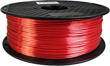 Silk Red PLA Filament 1.75 mm 3D Printer Filament 1KG 2.2LBS Spool 3D Printing Materials Shiny Silky Shine Silk Like Feeling PLA CC3D Also Gold Silver Copper