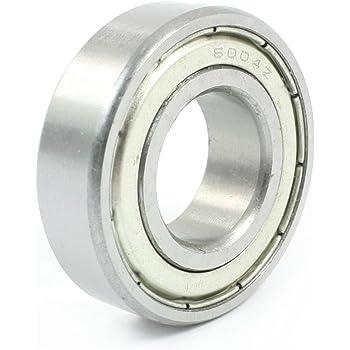 2 cuscinetti a sfera in acciaio al carbonio 6006RS con scanalatura profonda 30 x 55 x 13 mm