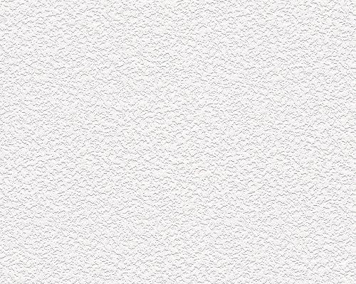 A.S. Création Stukturprofiltapete Tapete Strukturtapete 10,05 m x 0,53 m weiß Made in Germany 336220 3362-20