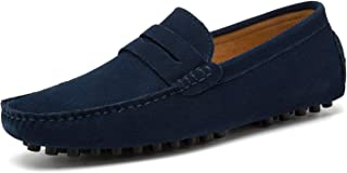 Go Tour Men's Penny Loafers Moccasin Driving Shoes Slip On Flats Boat Shoes