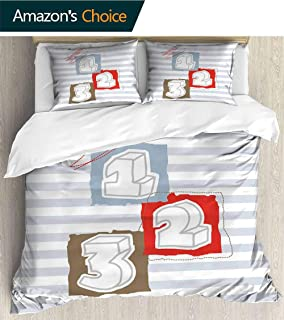 PikaQ Bedding European Bed Cover Set,Quilt Cover 70