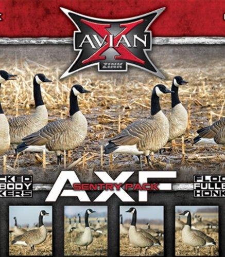 Avian-X Flocked Honker Sentry Full Body Goose Decoys 6 Pack, 9030