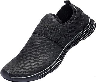 Zapatos de Agua para Hombre Zapatos Descalzos de Secado rápido Antideslizantes para Aqua Beach Surf Natación Canotaje Pesca Caminar Ligero Sandalias Deportivas de Verano 39-50
