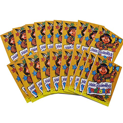 Zauberblock Indianer 20 Stück