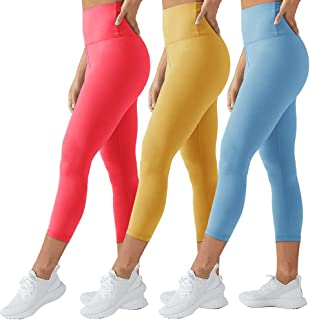 TNNZEET High Waisted Leggings for Women Plus Size Capri&Ankle Yoga Pants Tummy Control Soft Workout Seamless Legging