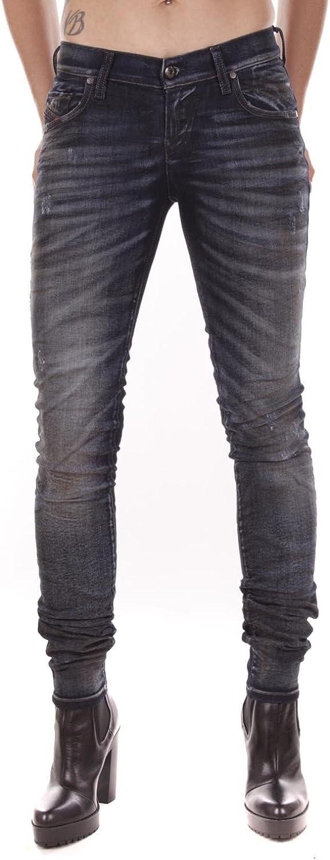Diesel Womens Stretch Jeans Grupee 0843Q Superslim Skinny bluee