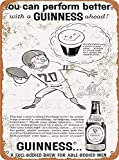 Cerveza de rugby clásico nostálgico arte retro pintura de hojalata letrero de metal decoración de pared regalo perfecto para colgar 7.8X11.8 pulgadas