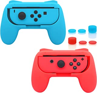 FastSnail Grips Compatible with Nintendo Switch for Joy Con, Wear-Resistant Handle Kit Compatible with Joy Cons Controller...