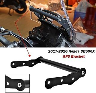 FATExpress Accesorios CB500X Motocicleta Teléfono móvil GPS Placa Soporte Soporte Soporte de navegación Ajustable para 2017 2018 2019 2020 Honda CB 500X 17-20