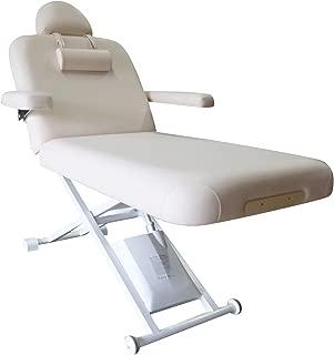 """DevLon NorthWest Electric Stationary Massage Table 30"""" Adjustable Back Height Beige"""