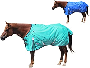 extreme Elements 1200D Ripstop Waterproof Horse Blanket with 2 Year Warranty - 300g Polyfil Heavyweight Winter Turnout Bla...