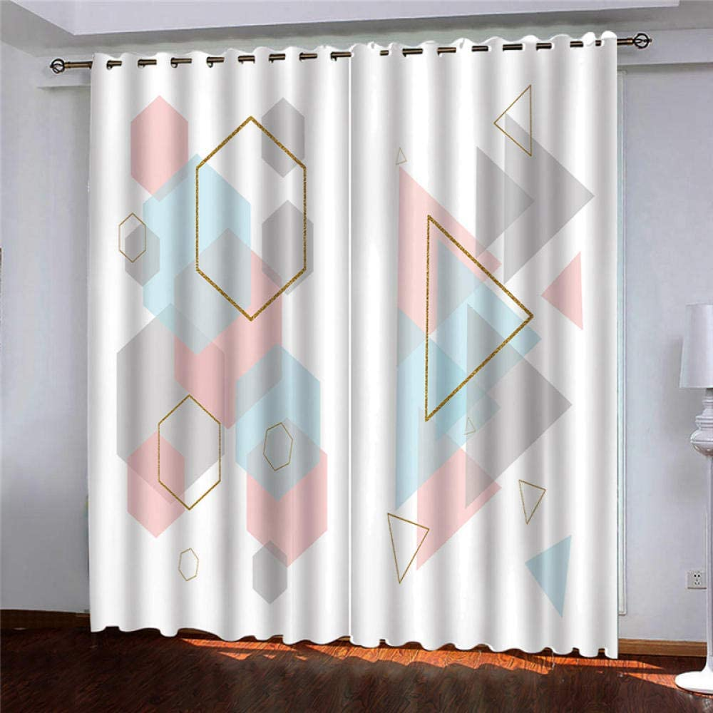TFNIMB Brand Cheap Sale Venue Blackout Curtains Panels excellence for Bedroom Geometric Gold Print