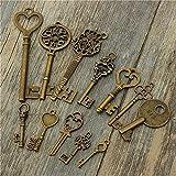 Clave de la vendimia encanta la joyería antiguos Hadas/Colgantes 12pcs Decoración hogareña