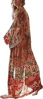 Women Beach Cover Ups Cardigan Blouse Long Bikini Kimono Wraps Chiffon Rayon