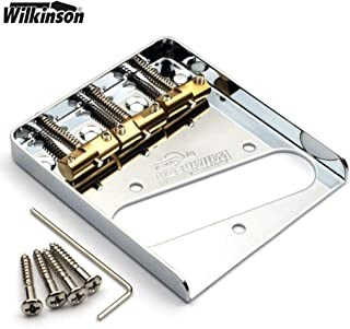 NEW Wilkinson Chrome WTB Ashtray Bridge for Tele guitars, with Brass Saddles