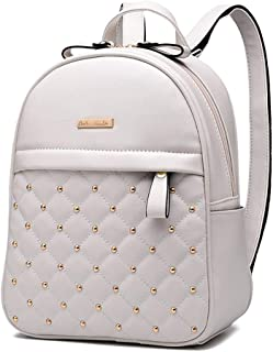 Women NEW Fashion Causal Preppy Style Shoulder Bag Leather Backpacks Style 1 White