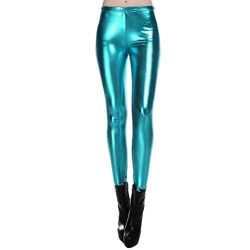 4e80f4171b9fa Diamond keep it Liquid Wet Look Shiny Metallic Stretch Leggings