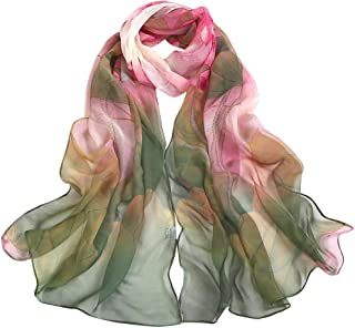 Fashion Scarfs for Women Hot Sale,DEATU Girls Floral/Lotus Printing Long Soft Wrap Scarf Ladies Shawl Scarves