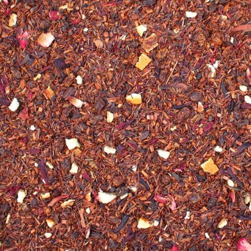 Rotbuschtee lose Syltfit Sanddorn Honigbuschtee, Sanddornbeeren, Hibiskus, Orangen Rooibos Tee Sanddorn-Geschmack Südafrika 500g
