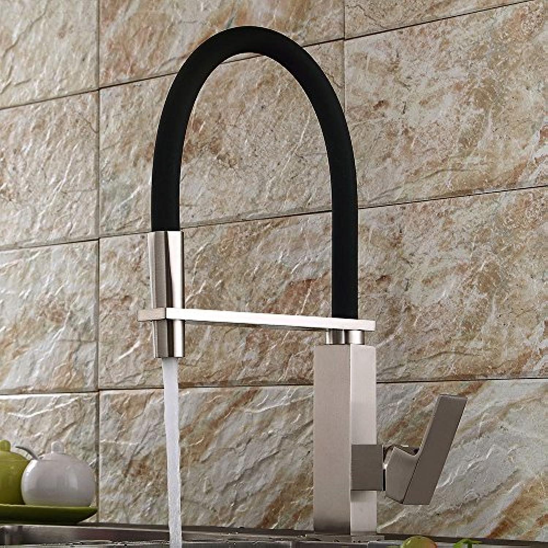 Wasserhahn Küchenarmatur Gebürstet Küchenarmatur Retro Warm- Und Kaltwasserhahn Drehfeder Ziehen