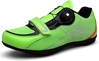 ZMYC Bicycle Shoes Men MTB Cycling Shoes Road Bike Shoes Non-slip Breathable With Carbon Sole And Precision Rotation System (Color : Green, Size : 38)